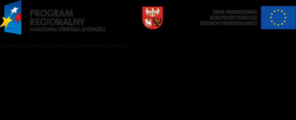 Projekt dofinansowany ze środków Europejskiego Funduszu Reginalnego